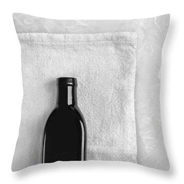 Little Black Bottle  Throw Pillow