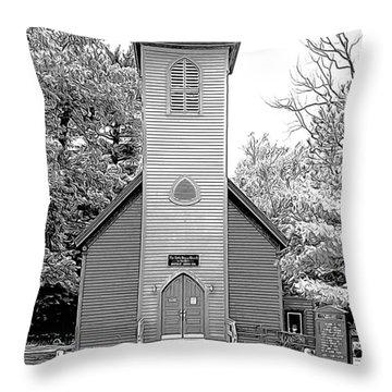 Little Brown Church Throw Pillow