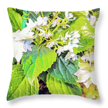 Throw Pillow featuring the photograph Little Orchids by Mindy Newman