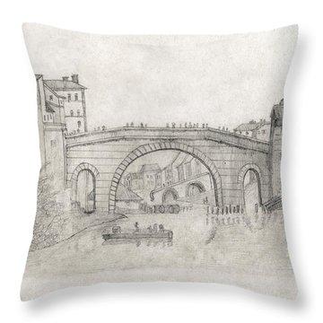 Liverpool Bridge Throw Pillow
