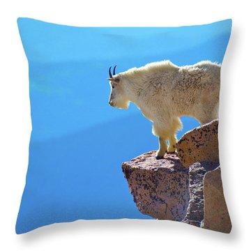Living On The Edge Throw Pillow