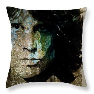 Lizard King / Jim Morrison Throw Pillow