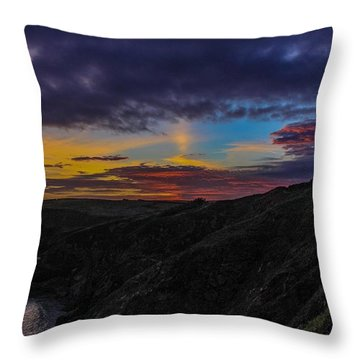 Lizard Point At Sunset  Throw Pillow by Claire Whatley