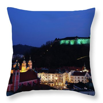 Ljubljana Castle Throw Pillow