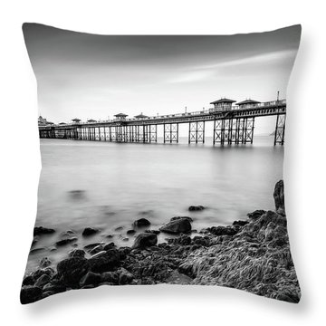 Throw Pillow featuring the photograph Llandudno Pier by Adrian Evans
