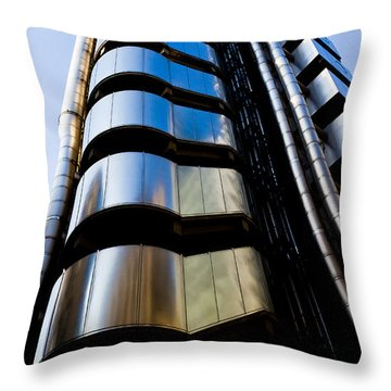 Lloyds Of London  Throw Pillow by David Pyatt