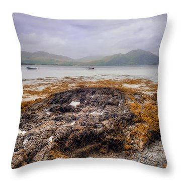 Loch Creran Coastline Throw Pillow by Ray Devlin