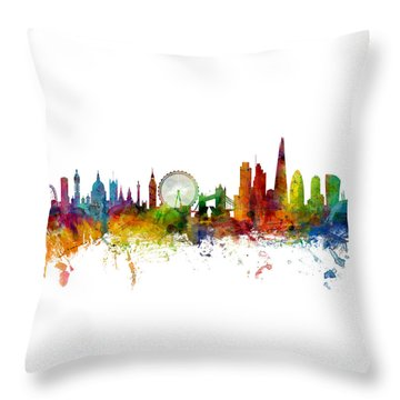 London England Skyline Panoramic Throw Pillow
