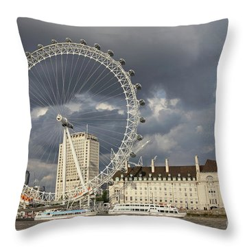 London Eye Throw Pillow