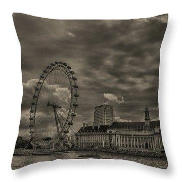 London Eye Throw Pillow by Martin Newman
