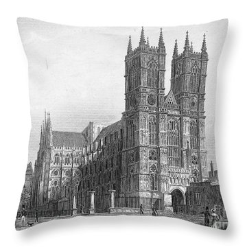 London: Westminster Abbey Throw Pillow by Granger