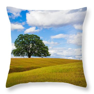 Lone Oak Throw Pillow