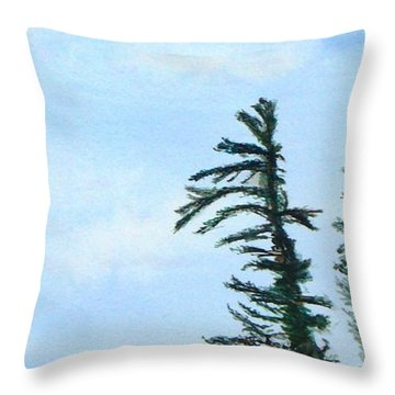 Lone Sentinel Throw Pillow