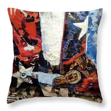 Lone Star Boot Throw Pillow by Suzy Pal Powell