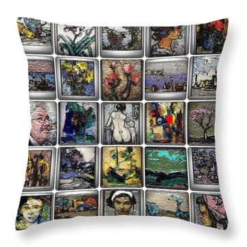 Throw Pillow featuring the mixed media Panorama Digital Graphics 1 by Pemaro