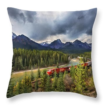 Long Train Running Throw Pillow