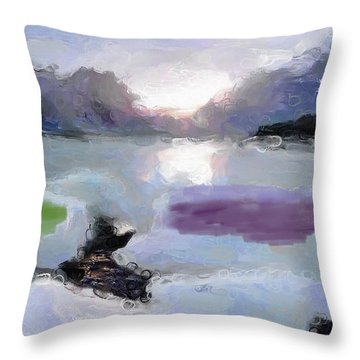 Looking Out Into The Bay Throw Pillow