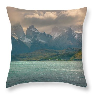 Los Cuernos  Throw Pillow by Andrew Matwijec