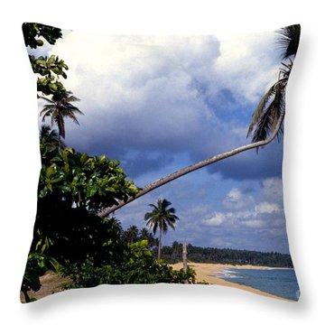 Los Tubos Beach Throw Pillow by Thomas R Fletcher