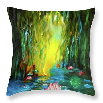 Lotus And Lily Pads Throw Pillow