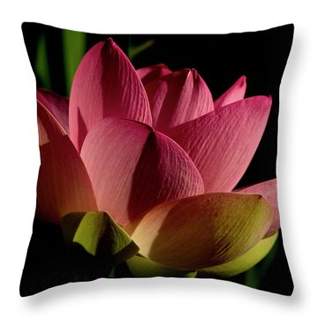 Throw Pillow featuring the photograph Lotus Flower 2 by Buddy Scott