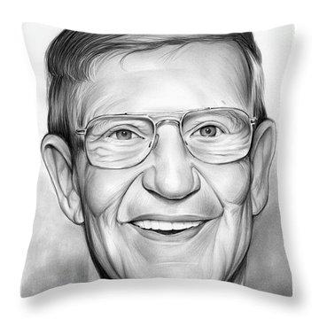 Lou Holtz Throw Pillow by Greg Joens