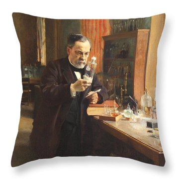 Louis Pasteur Throw Pillow by Albert Edelfelt