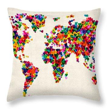 World Throw Pillows