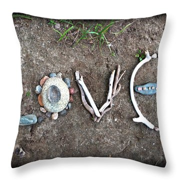 Love Throw Pillow by Tanielle Childers