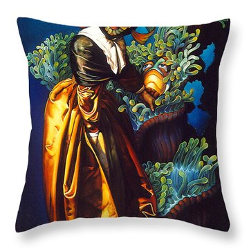 Love Thine Anemone Throw Pillow by Patrick Anthony Pierson