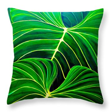 Lovely Greens Throw Pillow