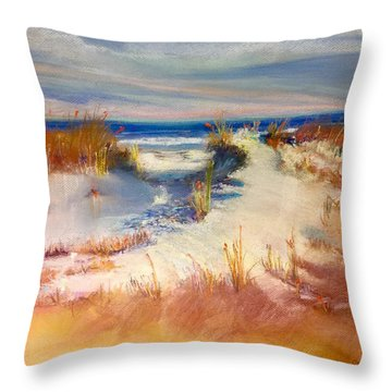 Lovers Key Throw Pillow