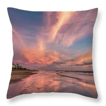Throw Pillow featuring the photograph Low Tide Mirror by Debra and Dave Vanderlaan