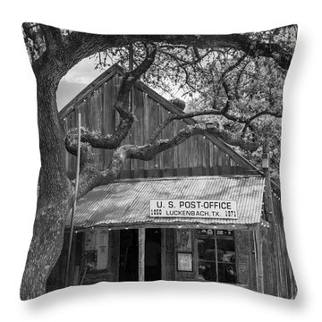Luckenbach Post Office Throw Pillow