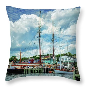 Throw Pillow featuring the photograph Lunenburg Harbor by Rodney Campbell