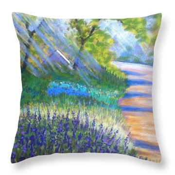 Lupens On Buccaneer Road Throw Pillow