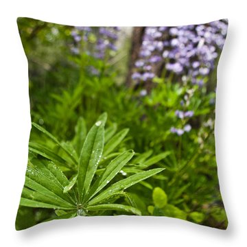 Lupine Leaf Throw Pillow