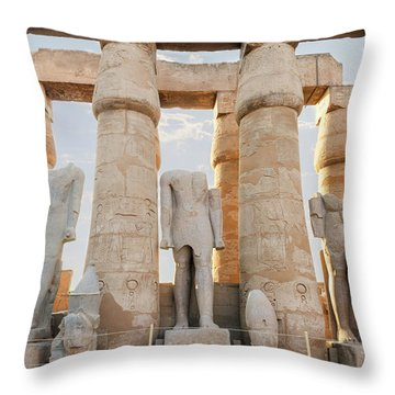 Throw Pillow featuring the photograph Luxor by Silvia Bruno