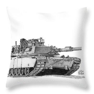M1a1 Tank Throw Pillow