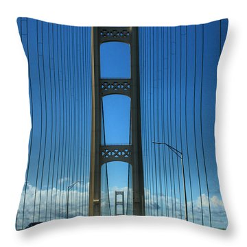 Mackinac Bridge Throw Pillow