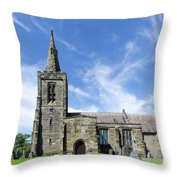 Mackworth Church Throw Pillow by Steev Stamford
