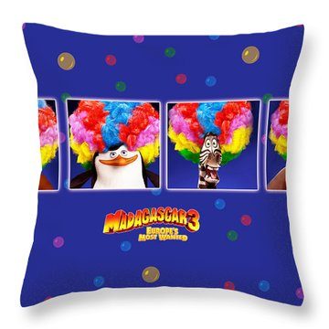 Madagascar 3 Europe's Most Wanted Throw Pillow