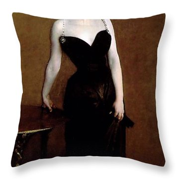 Madame X Throw Pillow