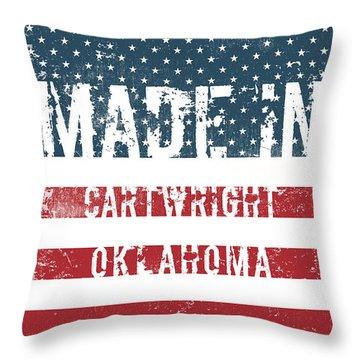 Made In Cartwright, Oklahoma Throw Pillow