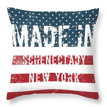 Made In Schenectady, New York Throw Pillow