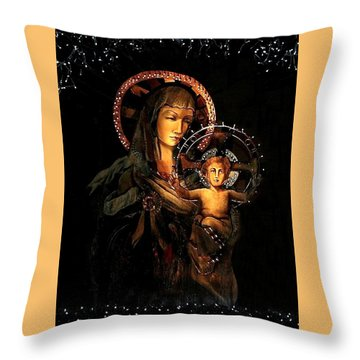 Throw Pillow featuring the photograph Madonna And Child by Ellen O'Reilly