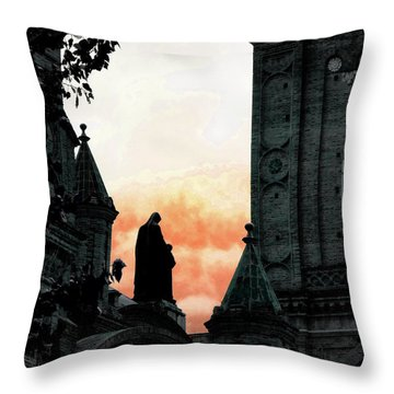 Madonna And Child II Throw Pillow by Al Bourassa