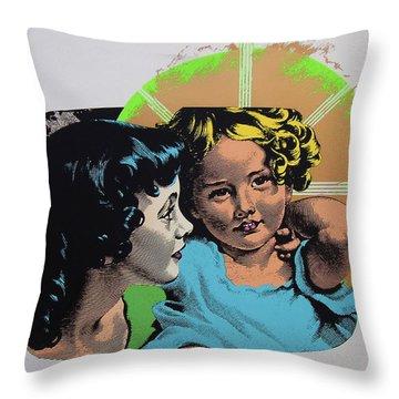 Madonna De Milo Throw Pillow by Charles Stuart