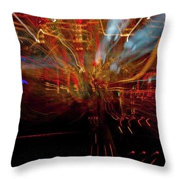 Magic Color Throw Pillow