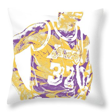 Magic Johnson Los Angeles Lakers Pixel Art 6 Throw Pillow